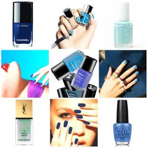 50 shades of blue manichiura pedichiura albastra